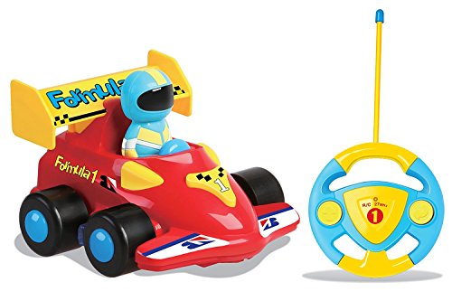 Cartoon R/C Race Car Radio Control Toy for Toddlers