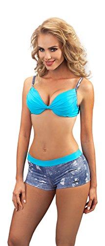 Donna Pezzi 124 due Bikini da Aquarilla Bagno Blu Jeans Blue Alabama Costume wqIO8Y