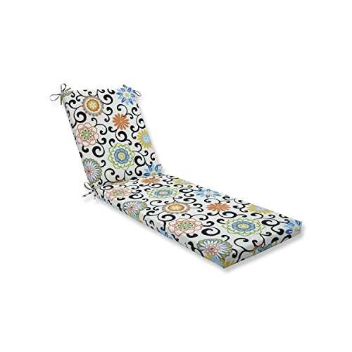 Pillow Perfect Outdoor/Indoor Pom Pom Play Lagoon Chaise Lounge Cushion 80x23x3
