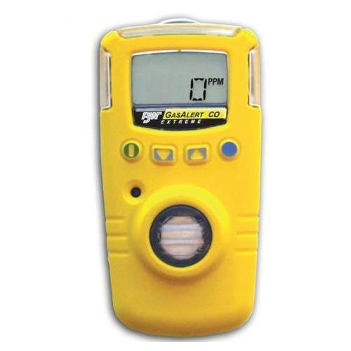 BW Technologies GAXT-H-2-DL GasAlert Extreme High Range Hydrogen Sulfide (H2S) Single Gas Detector, 0-500 ppm Measuring Range, Yellow by BW Technologies