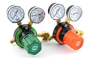 SÜA Oxygen and Propane Propylene V350 Regulators Combo VICTOR Style
