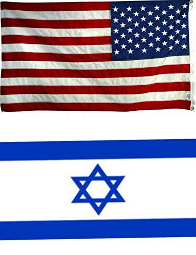 Mikash 4x6 4x6 Wholesale Combo USA American Israel Israeli Flag Banner Grommets | Model FLG - 3352 ()
