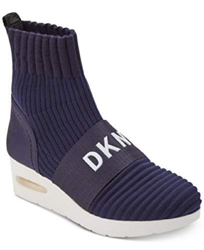 DKNY Anna Wedge Sneakers Navy Size 10M