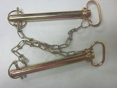 ~ 5 ~ TRACTOR TRAILER 3/4'' X 7-3/8'' HITCH PIN CHAIN CLIP LYNCH RECEIVER TOW LOCK
