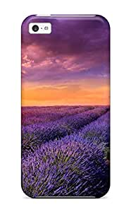 Andrew Cardin's Shop New Style Defender Case For Iphone 5c, Sunrise Over The Flower Field Pattern 5635263K98362088