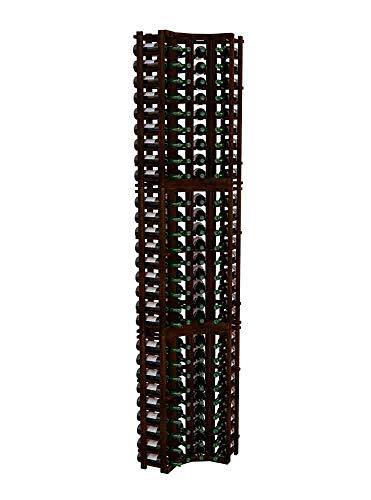 Winemaker Series Wine Rack - Curved Corner - 9 Ft - Premium Redwood Dark Walnut Stain -