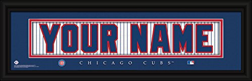 (Chicago Cubs Personalized Nameplate MLB framed and customized 24