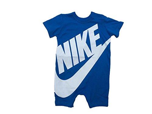 NIKE Baby Boy Infant Shortall (Blue Nebula (56D369-U5X)/White, 6-9 Months)