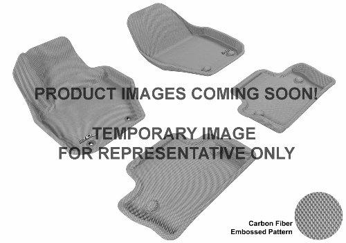 3D MAXpider Complete Set Custom Fit All-Weather Floor Mat for Select Porsche Cayenne Models – Kagu Rubber (Gray)