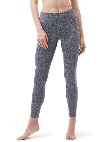 Tesla TM-FYP52-SDV_2X-Large Yoga Pants High-Waist Tummy Control w Hidden Pocket FYP52
