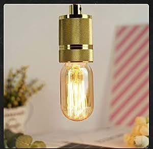 T45 Edison Tublar LED Filament Bulb Medium Screw Base E27 LED Light 220V Vintage Decorative Bulb -Yellow