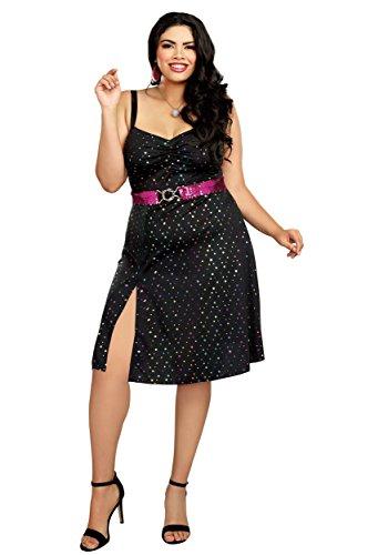 Dreamgirl Women's Plus Size Disco Diva, Black,