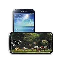Horses Grass Trees Walk Herd Samsung Galaxy S4 Snap Cover