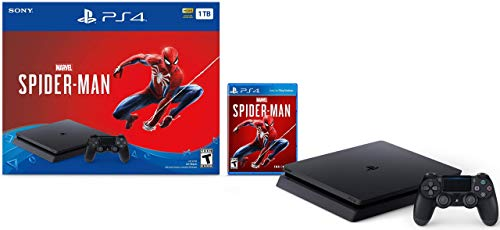 Newest Sony Playstation 4 Slim 1TB SSD Console – Marvel's Spider-Man PS4 Bundle with DualShock-4 Wireless Controller (Renewed)