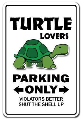 Turtle Lovers Parking Aluminum Sign Ocean Aquarium Animal sea pet | Indoor/Outdoor | 14