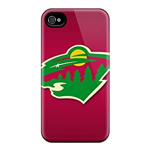 Scratch Protection Hard Phone Cases For Iphone 6plus With Support Your Personal Customized Trendy Minnesota Wild Skin CharlesPoirier