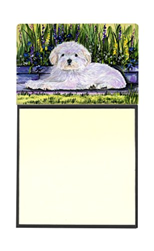 Caroline's Treasures Coton de Tulear Refillable Sticky Note Holder or Postit Note Dispenser, 3.25 by 5.5'', Multicolor by Caroline's Treasures