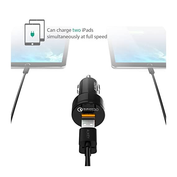 AUKEY QC 3.0 Car Charger, Dual Ports 18W Quick Charge Qualcomm Certified 36W in Total for Samsung Note 8 / S9 / S10+, LG G6 / V30, HTC 10 and More 3 Quick Charge 3.0: Charges 2 compatible devices simultaneously up to 4 times faster than conventional charging ( Fast Charge is not supported on the Google Pixel/XL and Google Pixel 2/XL. To fast charge Google Pixels, see this item: https://www.amazon.com/dp/B079MWXSS8) Optimal Charging: Dual Quick Charge 3.0 Ports with AiPower Adaptive Charging Technology Universal Compatibility: Compatible with all USB-powered devices including Quick Charge 2.0 and Apple phones & tablets