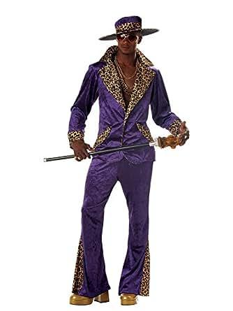 amazon com purple pimp costume clothing