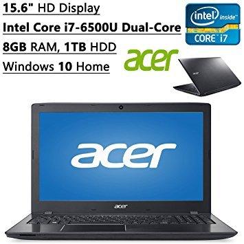 Acer Aspire 15.6 inch HD Flagship High Performance Laptop PC| Intel Core i7-6500U Dual-Core| 2.50 GHz| 8GB RAM| 1TB HDD| DVD RW| Bluetooth| WIFI| Ethernet| Windows 10 Home (Black)