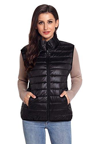 Chaqueta de chaleco de algodón acolchado BaronHong negro