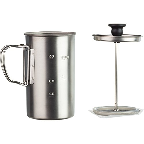 Snow Peak Men's Titanium Coffee Press, Silver, One Size (Press Titanium Coffee)