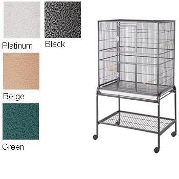 HQ Flight Cage, Multi Purpose Aviary with Cart Stand, Black, 1 Per Box, My Pet Supplies