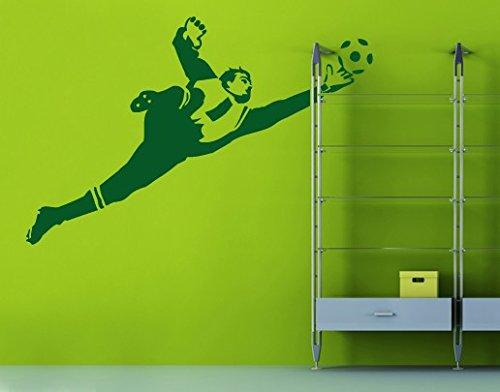 Wandtattoo No.UL453 Torwartparade II Kinderzimmer Jugendzimmer Fussball Torwart, Farbe Schwarz;Größe 70cm x 107cm