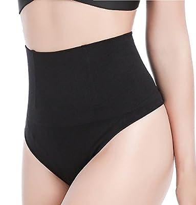 Hioffer Women Waist Cincher Girdle Tummy Slimmer Sexy Thong Panty Shapewear