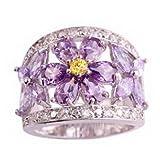 Best Pixel Jewelry 1985 Wedding Ring Sets - Pixel Jewelry 1985 - Women Amethyst Tourmaline Citrine Review