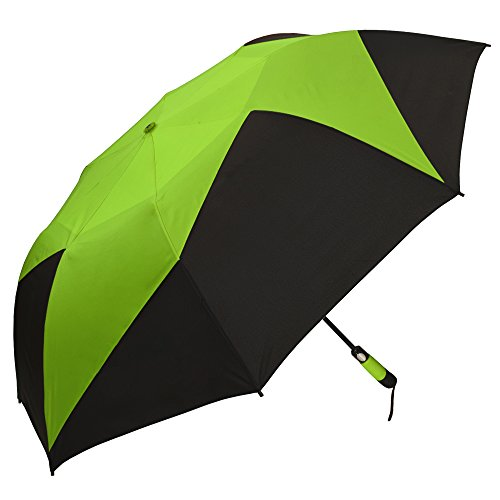 StrombergBrand Vented Pinwheel, Lime Green Over Black (Green Umbrella Lime)