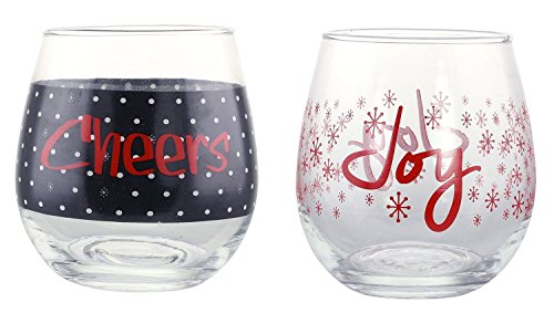 KOVOT Holiday CHEERS Stemless Glass
