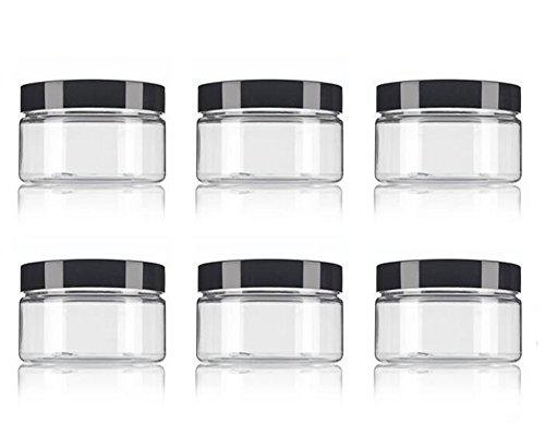 4 oz wide mouth plastic jars - 6