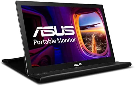 """ASUS 15.6"""" 1080P Portable Monitor (MB169B+) - Full HD, IPS, Auto-rotatable, Smart Case, Ultra-slim, Lightweight, Sleek, USB 3.0 Powered, For Laptop, PC, Phone, Console"""