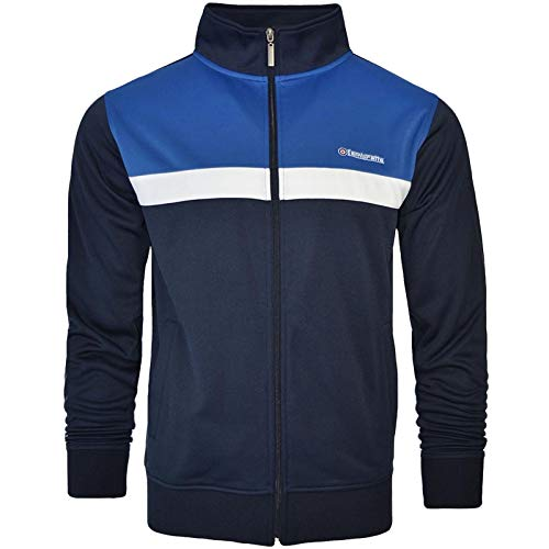 Lambretta Mens Retro Panel Casual Track Jacket - Navy - L