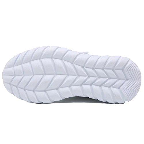 GUBARUN Kids Running Shoes Boys and Girls Lightweight Comfortable Walking Sneakers(12.5, White) by GUBARUN (Image #4)
