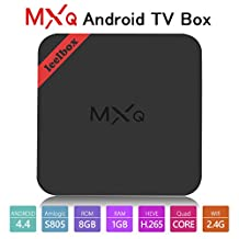 Leelbox MXQ Android TV Box android 4.4 Quad-Core CPU 1GB RAM/8GB ROM 64 Bits Quad Core and Supporting Full HD /H.265 /WiFi 2.4GHz