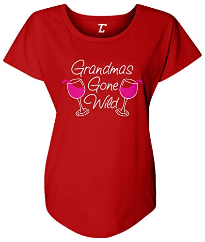 Grandma's Gone Wild - Wine Women's Dolman (Red, Large)