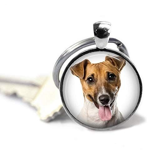 (Goodnight cat Jack Russell Terrier Dog's Photo on a Keychain,Dog Memorial Photo Gift,Unique Souvenir Key Chain)