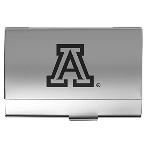 University of Arizona - Two-Tone Business Card Holder - Silver