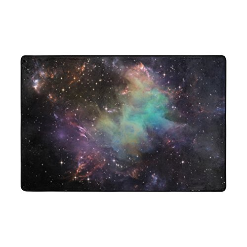 Cooper girl Universe Galaxy Nebula Area Rug Cover Decorative Printed Mat 3'x2' for Indoor Outdoor Decor by Cooper girl
