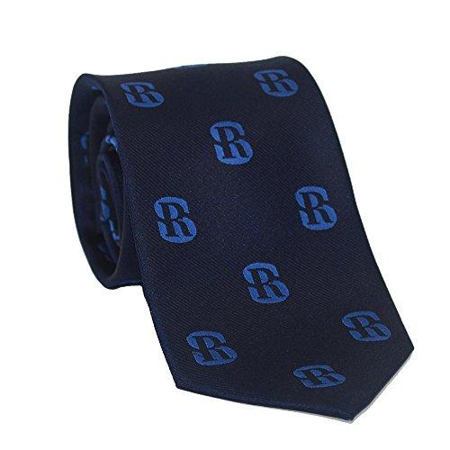 SummerTies Salve Regina University Necktie - SR Logo, Officially Licensed, Woven Silk, Standard Length