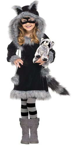 In Fashion Kids Sweet Raccoon Costume: Toddler or Girls Halloween Costume WB (8-10 with Bracelet for Mom) ()