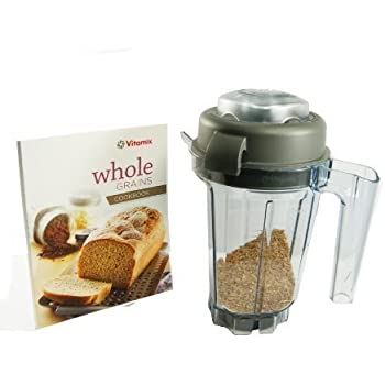 Vitamix 32-ounce Dry Grains Container. With Dry Blades, Lid, Mini-TAMPER and Recipe BOOK. BPA-free Eastman Tritan® Copolyester.