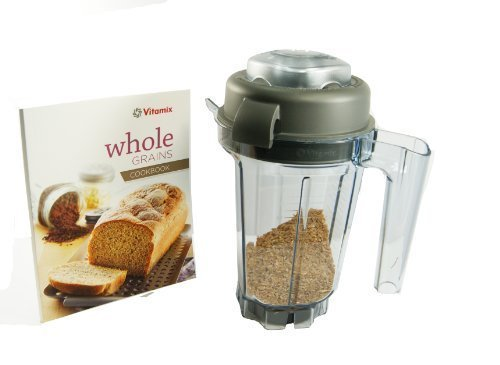 Vitamix 32-ounce Dry Grains Container. With Dry Blades, Lid, Mini-TAMPER and Recipe BOOK. BPA-free Eastman Tritan® Copolyester. by Vitamix