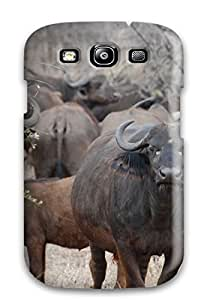 Durable Case For The Galaxy S3- Eco-friendly Retail Packaging(african Buffalo)