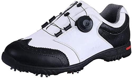 ゴルフシューズ、メンズカジュアル屋外防水回転レーススニーカー (Size : 42EU)