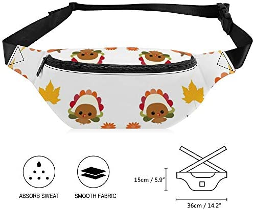 感謝祭 ウエストバッグ ショルダーバッグチェストバッグ ヒップバッグ 多機能 防水 軽量 スポーツアウトドアクロスボディバッグユニセックスピクニック小旅行