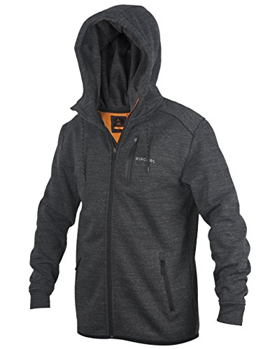 Rip Curl Men's Departed Anti Series Zip up Hooded Fleece Sweatshirt, Navy, Medium ()