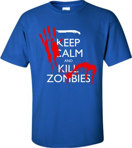 YM 10-12 Royal Youth Keep Calm And Kill Zombies T-Shirt